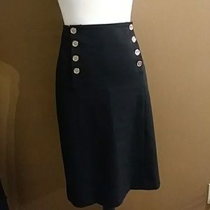 Lauren Ralph Lauren black long pencil skirt sz 6